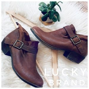 🌿 LUCKY BRAND ankle boots brown leather